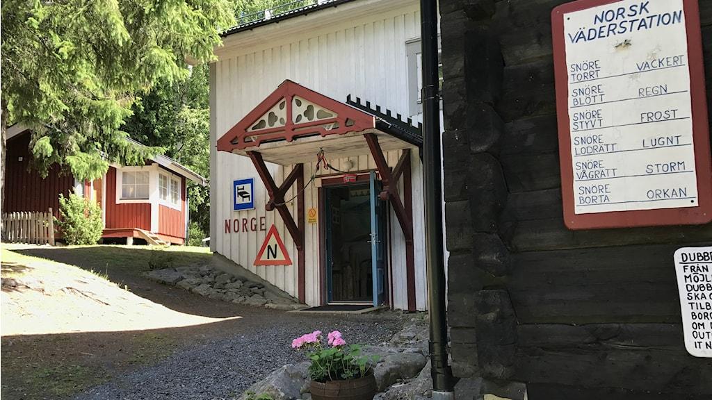 Ett av de norska husen.