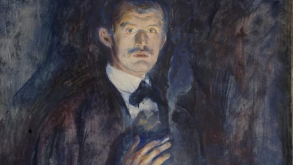 """Edvard Munch själv.""""Selvportrett med sigarett"""" från 1895. Foto: Børre Høstland, National Museum"""