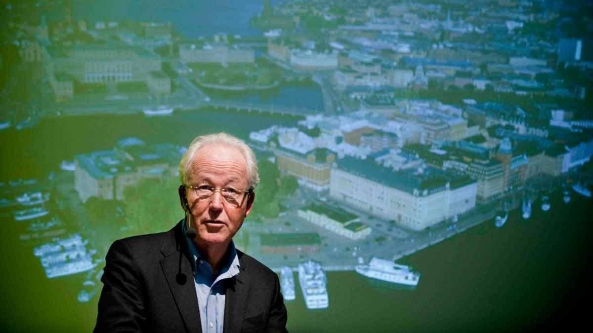 Nobelstiftelsens vd Lars Heikensten i samband med att planerna om ett nytt Nobelcenter presenterades. Foto: Pontus Lundahl/Scanpix