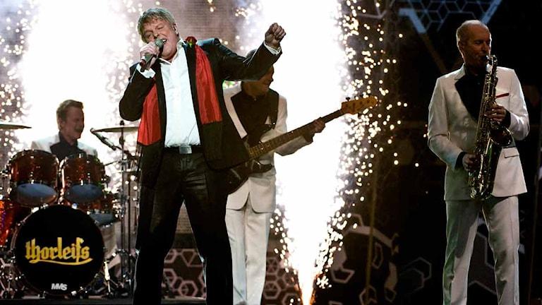 Thorleifs under Melodifestivalen 2009. Foto: Pontus Lundahl/SCANPIX