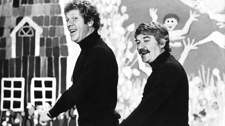 Hasse och Tage 1972. Foto: SVT Bild