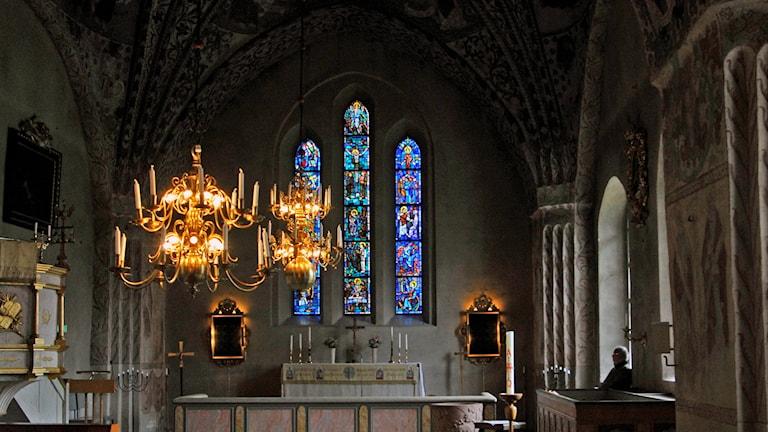 Interiör från Kumla kyrka.
