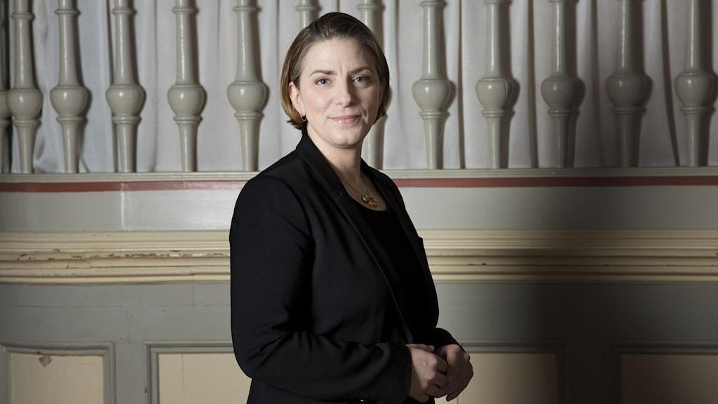 Porträtt av Anna Troberg, DIK:s ordförande.