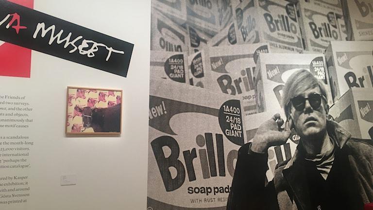 """Andy Warhol 1968"" på Moderna Muset 2018. Foto: Karsten Thurfjell/SR"