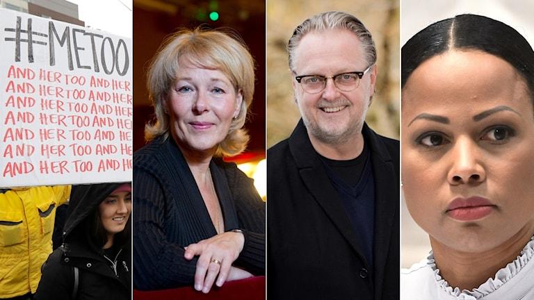 Vad har hänt i kulturbranschen efter #metoo? På bild fr v: Birgitta Svendén, vd och operachef för Kungliga Operan, Magnus Aspegren, vd för Riksteatern, och Alice Bah Kuhnke, demokrati- och kulturminister (MP).