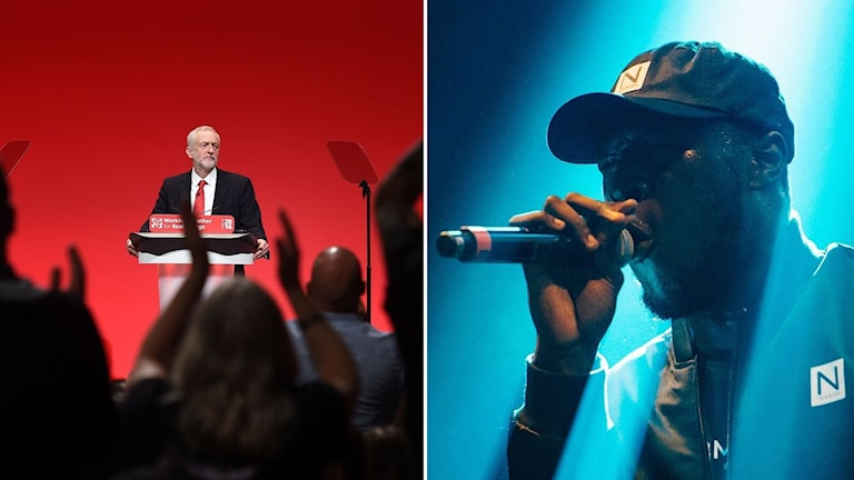 Jeremy Corbyn och Stormzy.