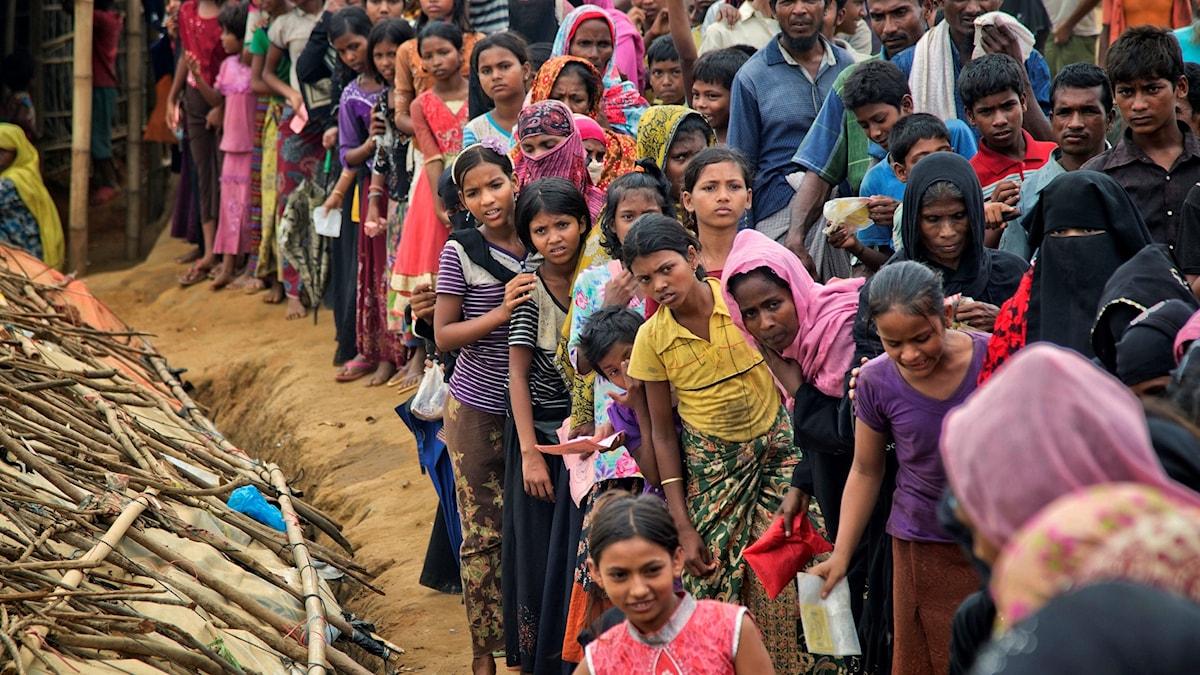 Cirka 620 000 rohingyas har flytt undan våldet i den burmesiska delstaten Rakhine.