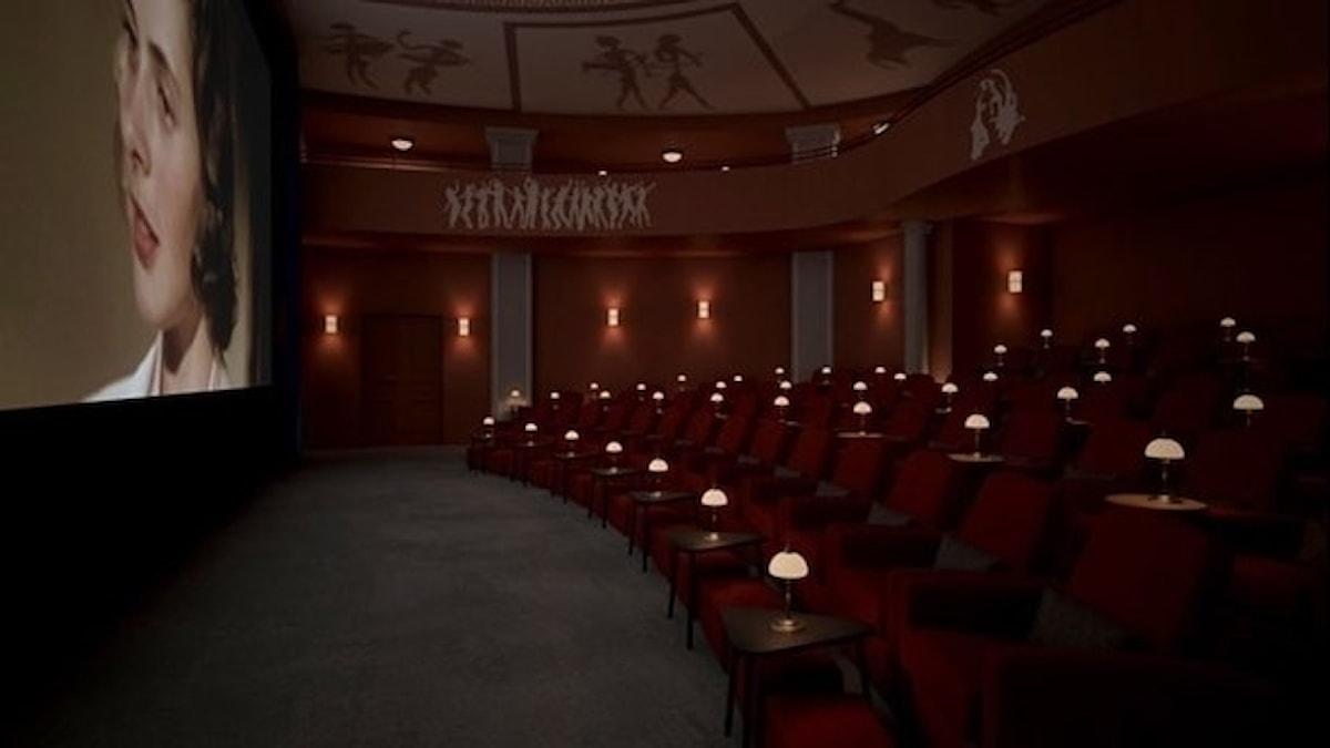 Så här ska biosalongen på Capitol se ut efter renoveringen. Foto: Biografen Capitol