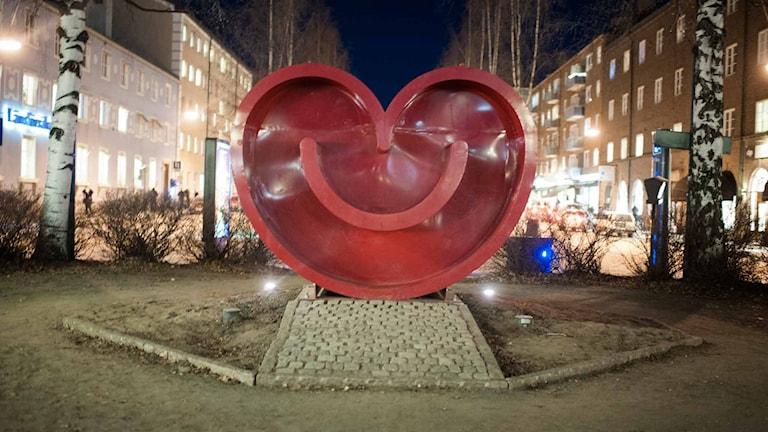 Symbolen för kulturhuvudstadsåret Umeå 2014. Foto: Sebastian Davidsson / SvD / TT
