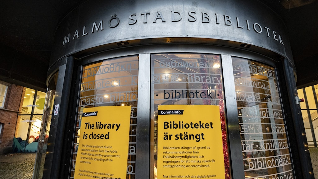 Malmö Stadsbibliotek måste hålla stängt
