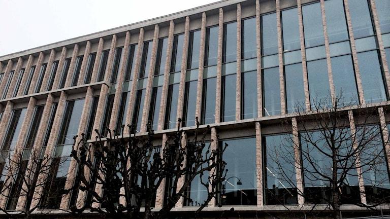 Fasaden på stadsbiblioteket har gjorts om. Foto: Andrea Valderrama/Sveriges Radio