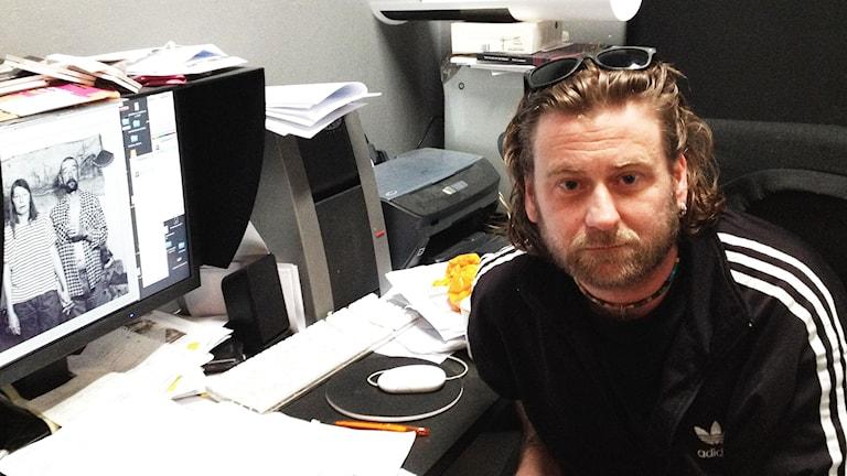 Thomas H Johnsson , ansvarig för Landskrona fotofestival. Foto: David Richter/Svriges Radio.