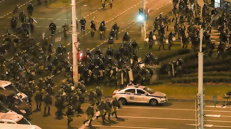 Gatuprotester har pågått i städer runt om i Belarus varje dag sedan presidentvalet i söndags.