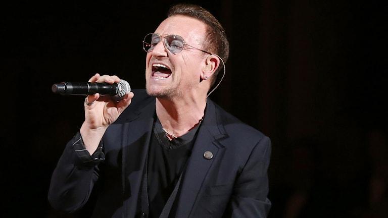 Bono, frontman i U2. Foto: AP/TT