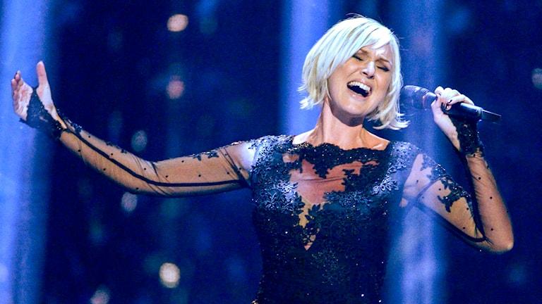 Sanna Nielsen vann svenska Melodifestivalen 2014. Foto: TT