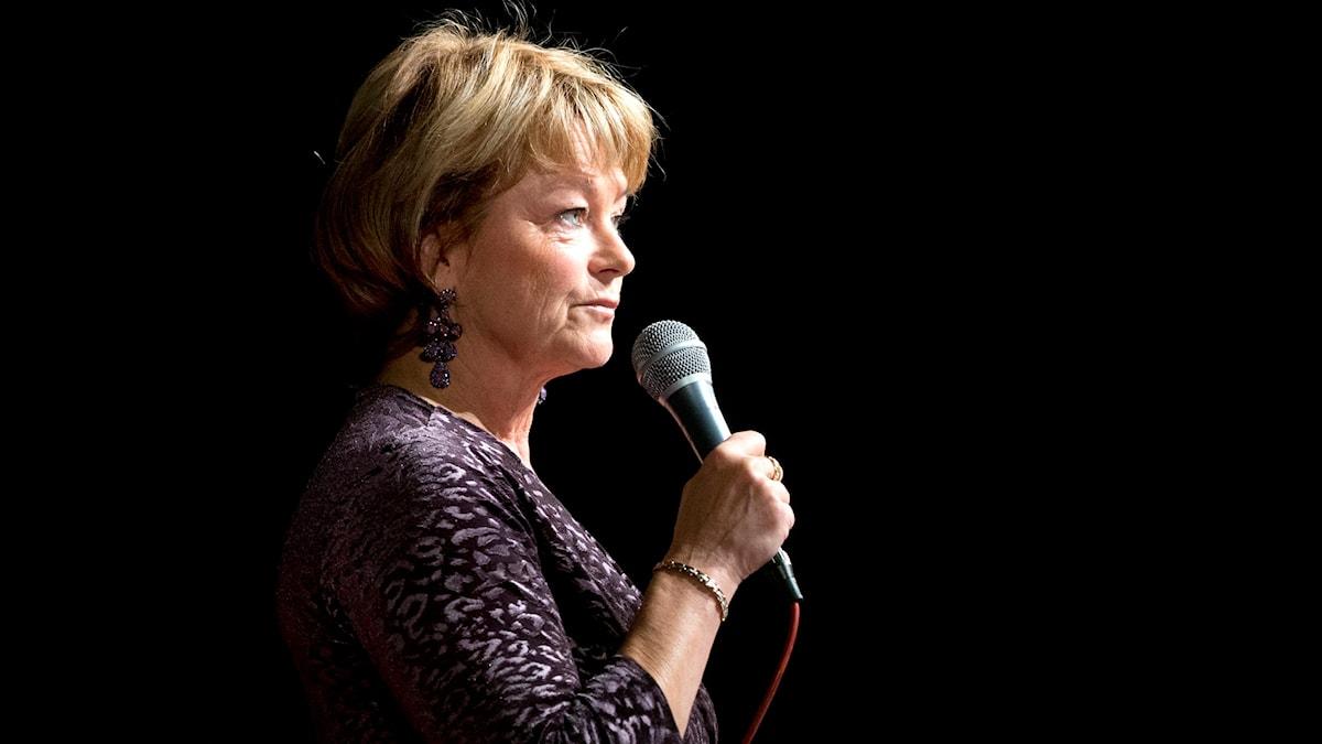 Lena Adelsohn Liljeroth lämnar. Vem ska bli kulturminister nu? Foto: Björn Larsson Rosvall/TT
