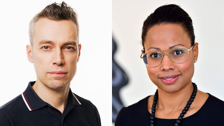 Mattias Hermansson, kulturchef på Sveriges Radio, och Alice Bah Kuhnke (MP), kulturminister. Foto: SR/TT