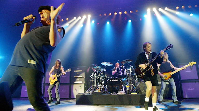 AC/DC på scen. Foto: AP/TT