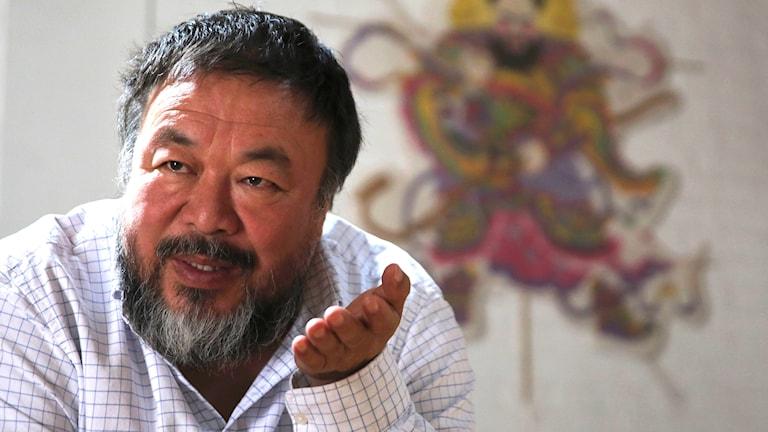 Kinesiske, regimkritiske konstnären Ai Weiwei. Foto: AP/TT