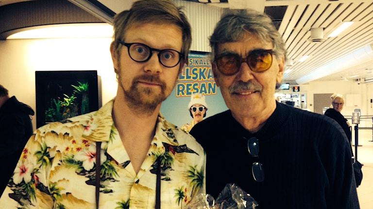 Anders Johansson och Lasse Åberg - nya Stig-Helmer och originalet. Foto: David Richter/SR