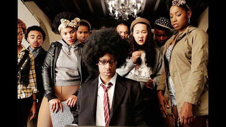 """Satiren """"Dear white people"""" hade Sverigepremiär på Stockholms filmfestival. Bild: Stockholms filmfestival"""