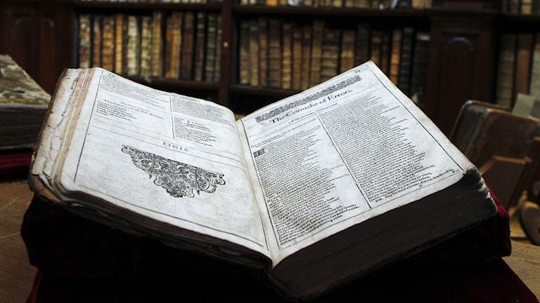 Shakepeare-utgåva är från 1623. Foto: Michel Spingler/TT