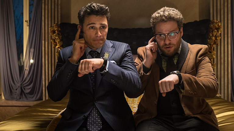 "James Franco och Seth Rogen i ""The interview"". Foto: Columbia Pictures/AP/TT"