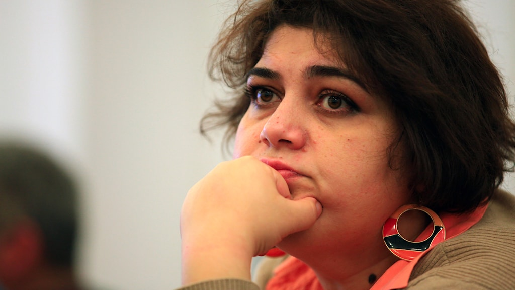 Khadija Ismayilova - reporter för Radio Free Europe/Radio Liberty, i Baku. Foto: AP/TT