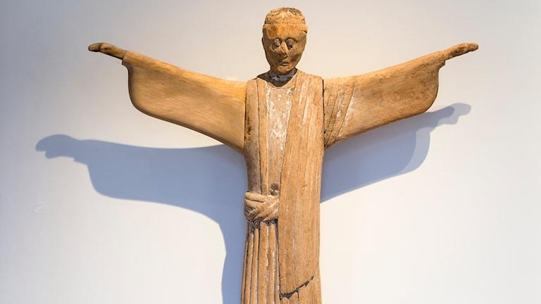 Krucifixet från Forsby. Foto: Katarina Nimmervoll/Statens historiska museum