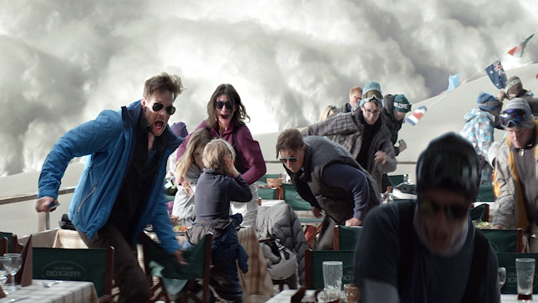 "Scen ur filmen ""Turist"". Foto: Fredrik Wenzel"