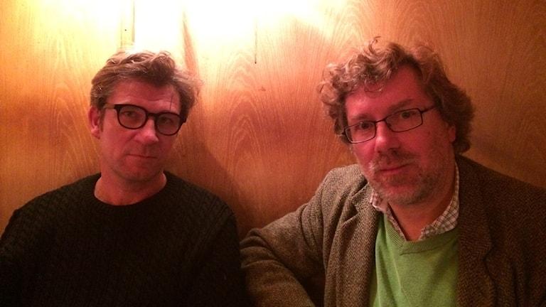 Magnus Bärtås och Fredrik Ekman. Foto: Hugo Rennéus / Sveriges Radio.