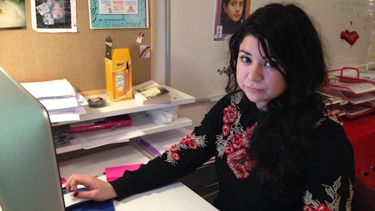 Bangs chefredaktör Mireya Echeverría Quezada. Foto: Ulrika Lindqvist/SR