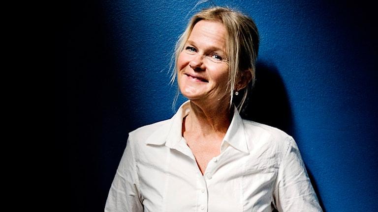 Parkteaterns nya chef - Sissela Kyle. Foto: Erik Mårtensson/SVT