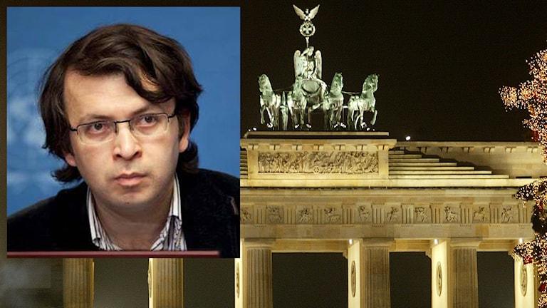 Emin Milli, chefredaktör på Meydan TV i Berlin. Foto: Privat/TT