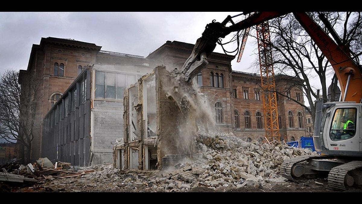 Nationalmuseum från baksidan. Foto: Statens Fastighetsverk