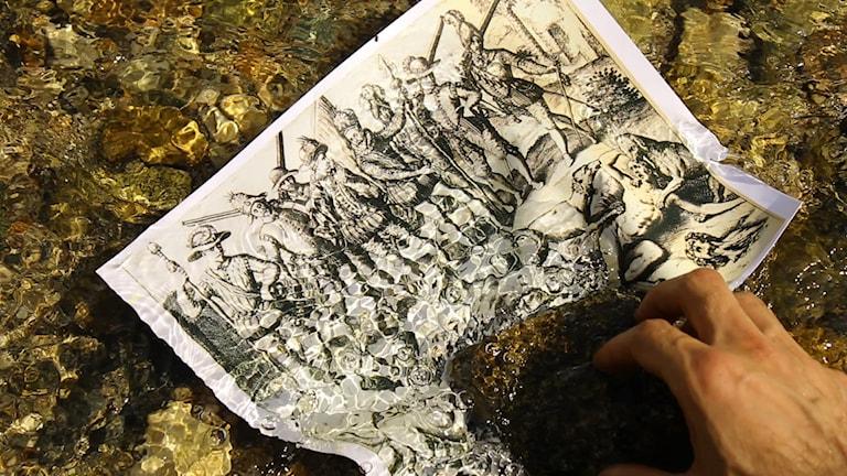 En stillbild från Carlos Mottas verk Nefandus.