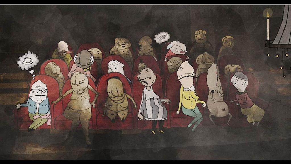 Malin Erixon: But you are a dog, 2D-animation Foto: Liljevalchs