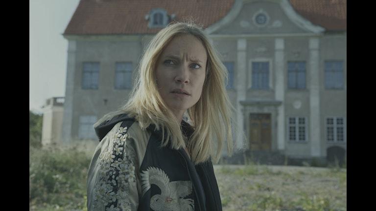 Moa Gammel spelar polisen Eva, som har förlorat sin dotter. Foto: Johan Paulin/Palladium Fiction