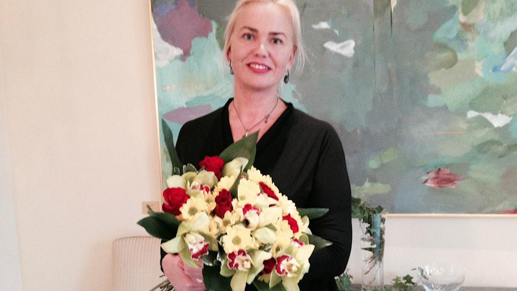 Pristagaren Kärt Anvelt. Foto:Karin Wickström/SR