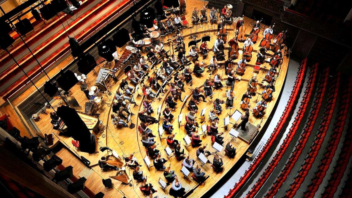 Kungliga filharmonikerna repeterar i konserthuset. Foto: Dan Hansson / TT