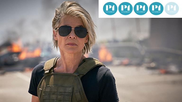 """Sarah Connor (Linda Hamilton) i """"Terminator: Dark Fate""""."""