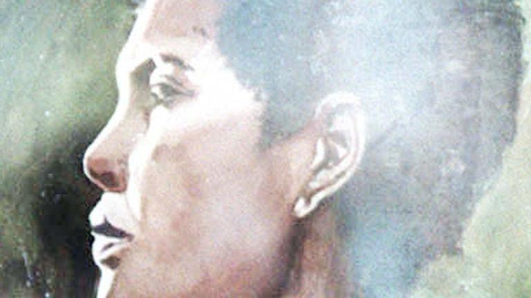 En tavla föreställande Billie Holiday - av Tony Bennett (!). Foto: AP Photo/Bridget Jones