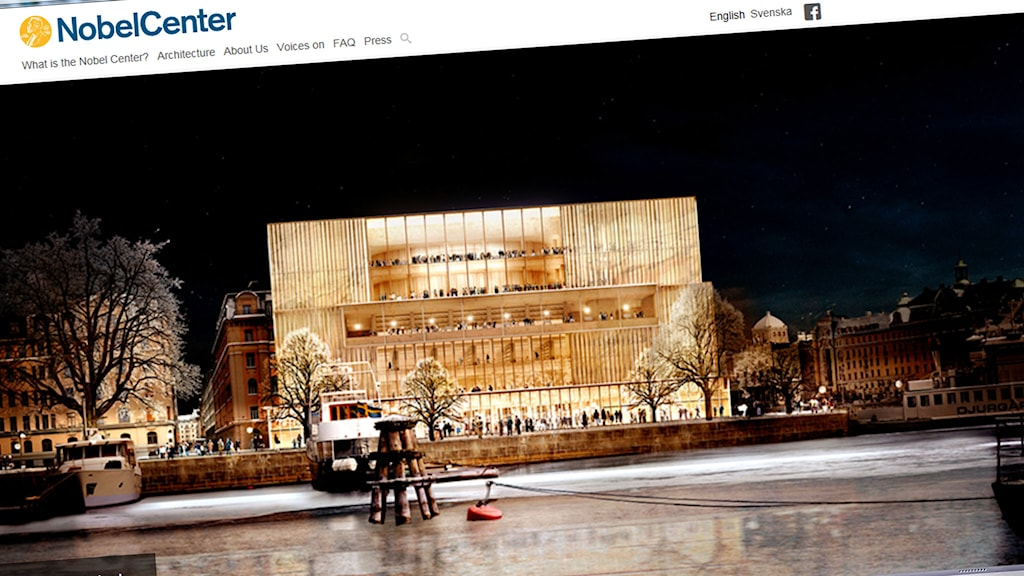 Nobelcenter.se. Foto: Skärmdump