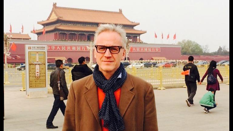 Mikael Fellenius var nyss i Kina för att träffa filmbranschen. Bild: Privat