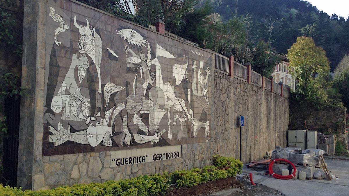 Renovering av Picassos mosaik Guernica i Gernika