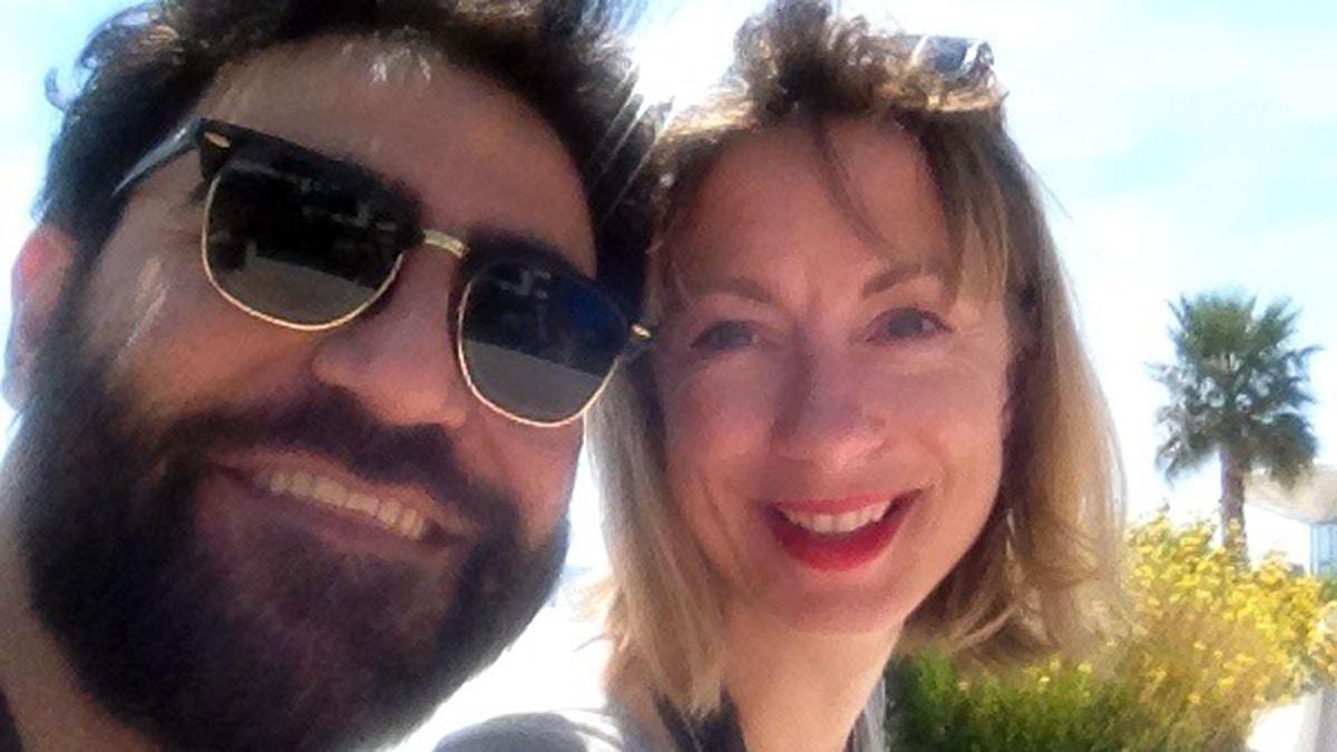 Filmreportrarna Lisa Bergström och Saman Bakhtiari i Cannes. Foto: SR
