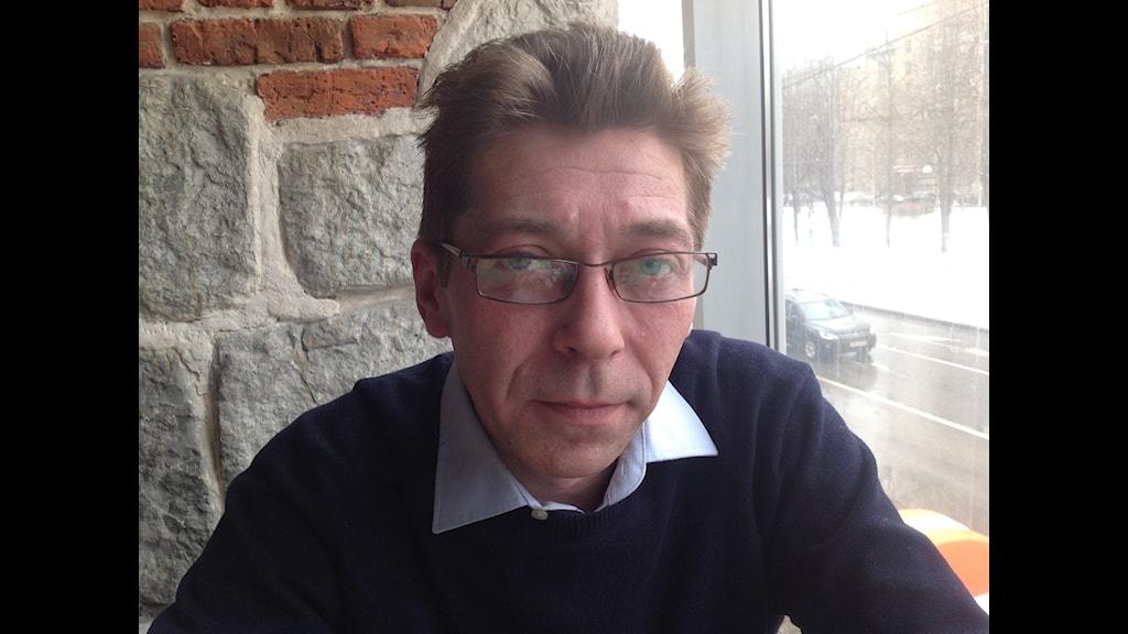 Sasha Sotnik, programledare för ryska Sotnik TV på Youtube. Foto: Fredrik Wadström