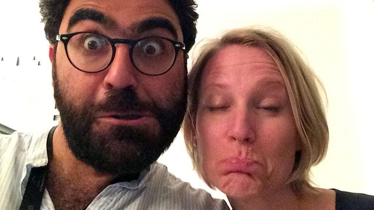 Saman Bakhtiari och Emma Engström har en podd ihop. Foto: SR