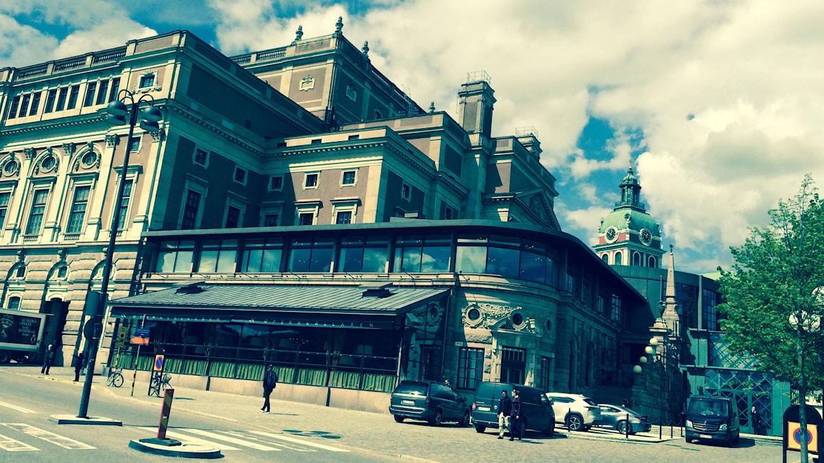Vinkeln där den nya scenen ska byggas ovanpå operakällaren och café opera. Foto: Torbjörn Eriksson/Kungliga operan