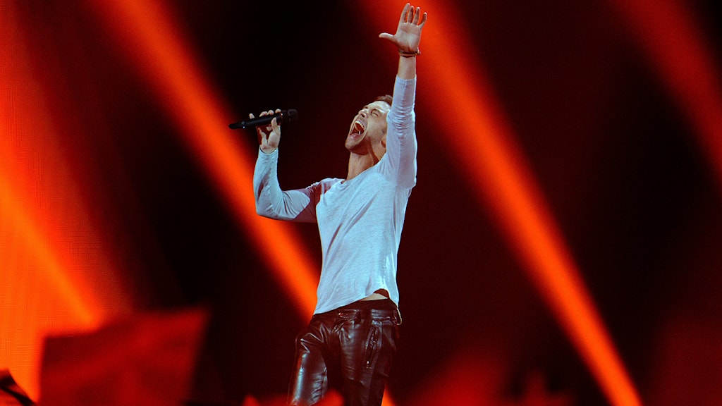 Måns Zelmerlöw i Eurovision. Foto: Kerstin Joensson/TT